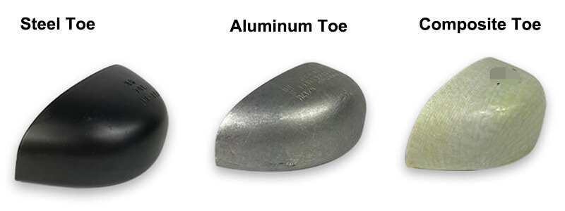 pvc safety shoes toe types