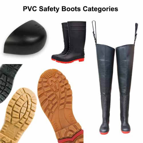 pvc safty boots categories